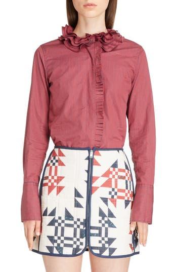Women's Isabel Marant Juliette Mini Gingham Cotton Poplin Shirt