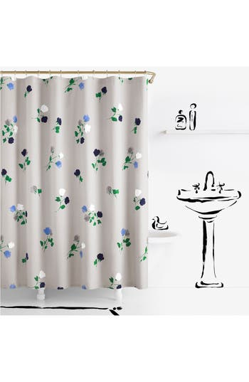 Kate Spade New York Willow Court Shower Curtain, Size One Size - Grey