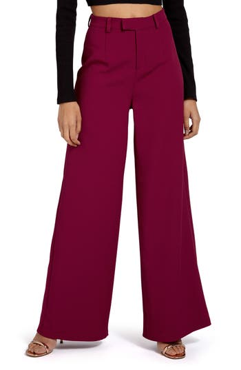 Women's Missguided Crepe Wide Leg Trousers