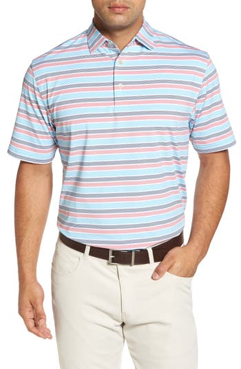 Peter Millar  BLOUNT STRIPE STRETCH JERSEY POLO