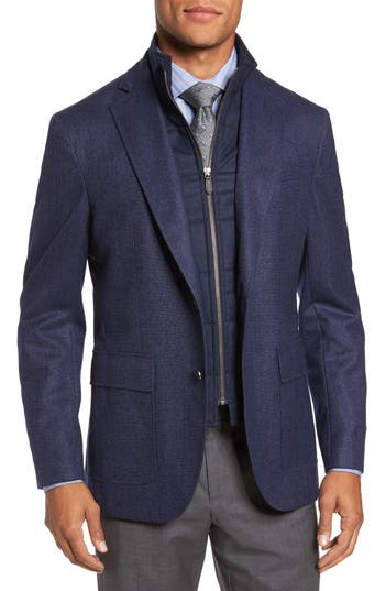 Men's David Donahue Aaron Classic Fit Wool Blazer