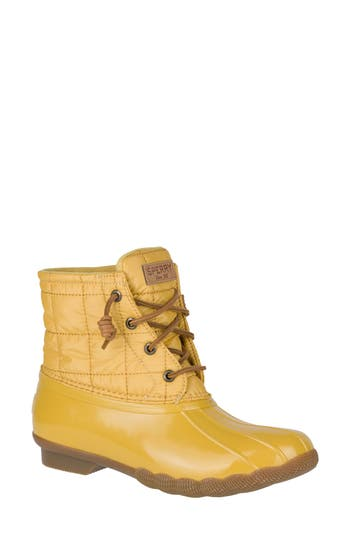 Women's Sperry Saltwater Duck Boot, Size 6 M - Yellow