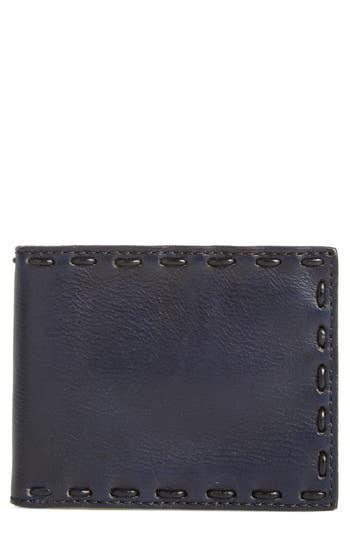 John Varvatos Star Usa Pickstitch Leather Bifold Wallet - Grey