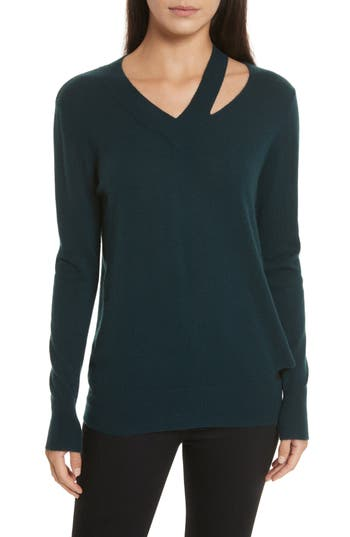 Women's Autumn Cashmere Cashmere Slash Boyfriend Sweater