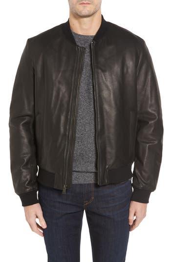 Men's Cole Haan Leather Varsity Jacket