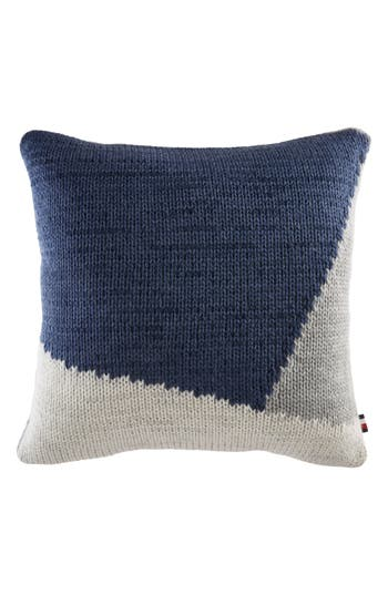 Tommy Hilfiger Colorblock Knit Accent Pillow, Size One Size - Blue