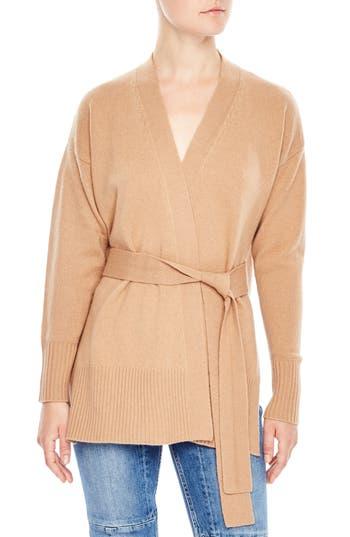 Women's Sandro Elina Wool & Cashmere Wrap Cardigan, Size 1 - Beige