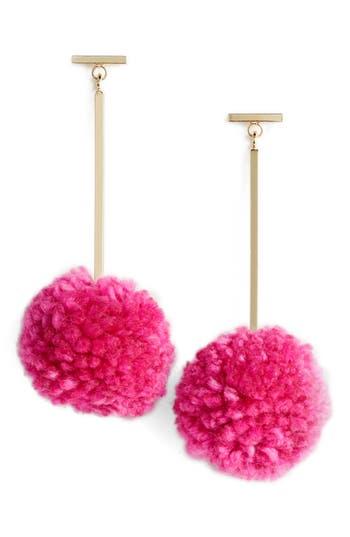 Women's Tuleste Pompom Drop Earrings