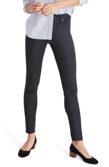 Women's Madewell 'High Riser' Coated Skinny Jeans