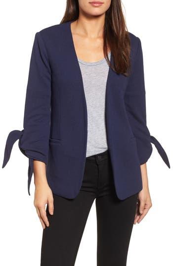 Women's Olivia Moon Tie Sleeve Knit Blazer