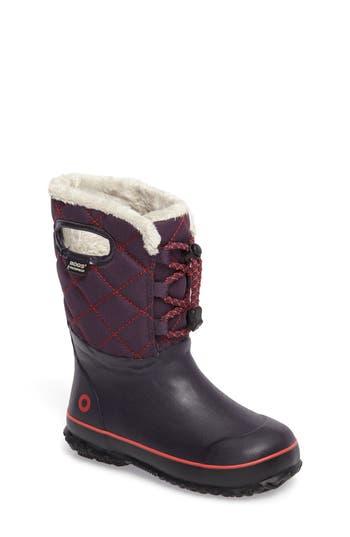 Girl's Bogs Juno Insulated Faux Fur Waterproof Boot