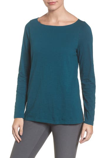 Women's Eileen Fisher Cashmere Blend Sweater, Size XX-Small - Blue/green