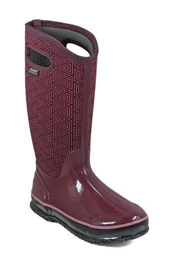 Bogs Classic Triangles Waterproof Subzero Insulated Boot, Purple