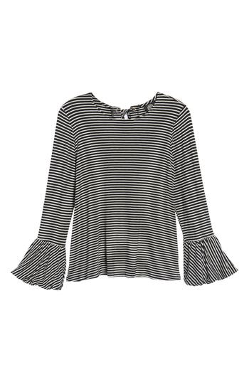 Women's Bobeau Bell Sleeve Top, Size Small - Black