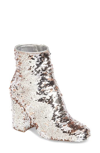 Retro Boots, Granny Boots, 70s Boots Womens Steve Madden Georgia Sequin Bootie $49.96 AT vintagedancer.com