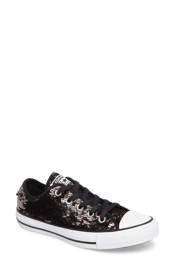 Women's Converse Chuck Taylor All Star Sequin Low Top Sneaker, Size 5 M - Grey