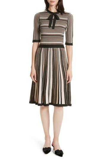 Women's Kate Spade New York Stripe Sweater Dress, Size Large - Pink