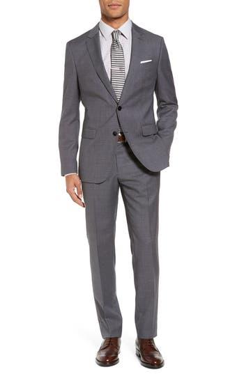 Men's Boss Novan/ben Trim Fit Solid Wool Suit