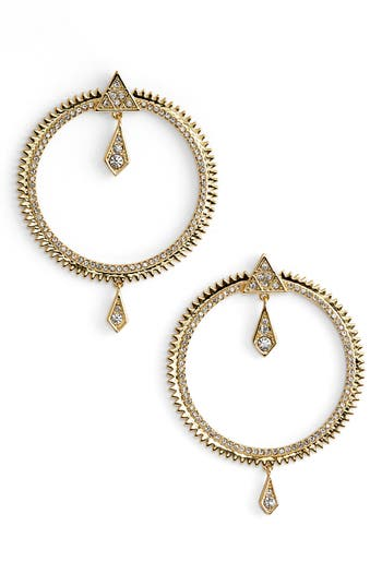 Women's Luv Aj Pavé Frontal Hoop Earrings