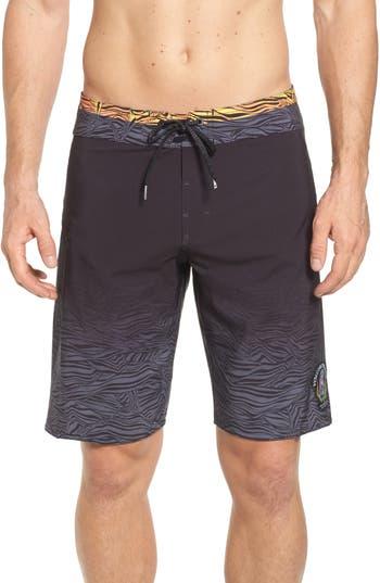 Volcom Pipe Pro Print Board Shorts, Black