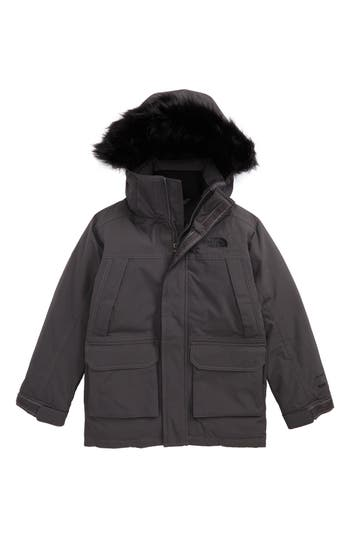 Boy's The North Face Mcmurdo Waterproof Down Parka With Faux Fur Trim