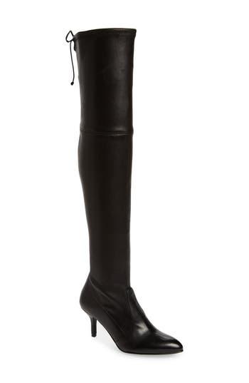 Stuart Weitzman Tiemodel Over The Knee Stretch Boot, Black