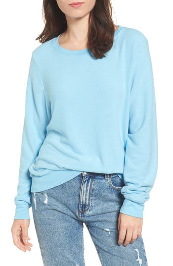 Women's Wildfox 'Baggy Beach Jumper' Pullover, Size Small - Blue