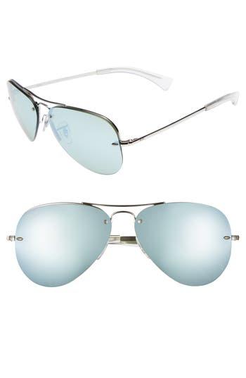 Ray-Ban Highstreet 5m Semi Rimless Aviator Sunglasses -