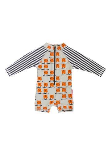 Infant Boy's Sookibaby Cub In The Hub One-Piece Rashguard Swimsuit