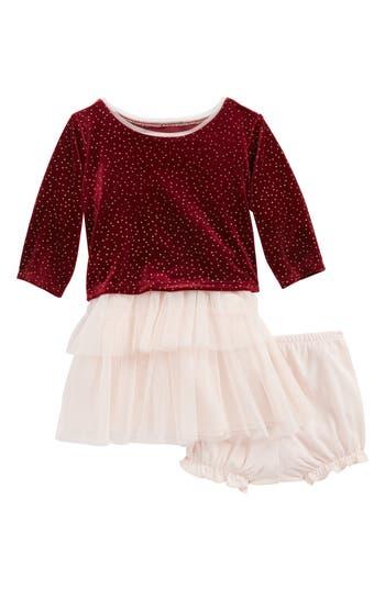 Infant Girl's Frais Velvet & Tulle Dress