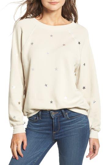 Women's Wildfox Twinkle Star Sweatshirt, Size Large - Grey