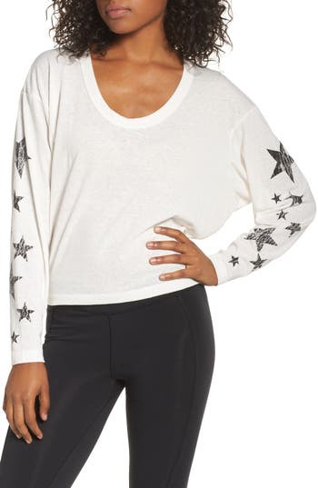 Free People Melrose Star Graphic Top, White