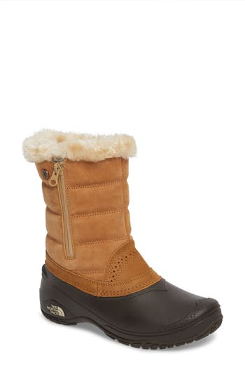 The North Face Shellista Iii Waterproof Pull-On Snow Boot, Brown