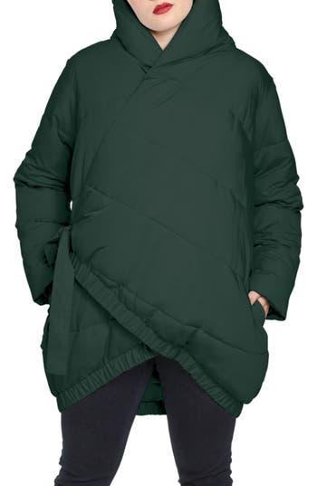 Plus Size Universal Standard Kanda Puffer Jacket, Size XL (26W-28W) - Green