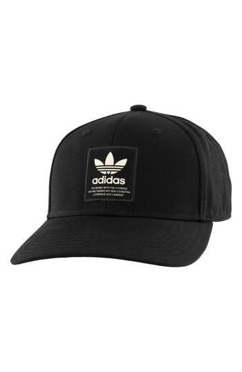 Adidas Originals  TREFOIL PATCH BASEBALL CAP - BLACK