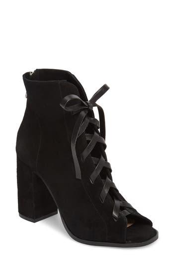 Kristin Cavallari Layton Lace-Up Boot- Black