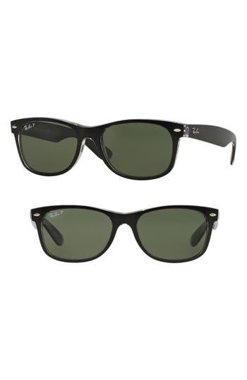 Ray-Ban Standard New Wayfarer 55Mm Polarized Sunglasses - Black/ Green