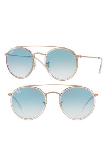 Ray-Ban 51Mm Aviator Gradient Lens Sunglasses - Blue Transparent