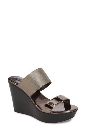 Charles By Charles David Fighter Platform Mule Sandal, Metallic