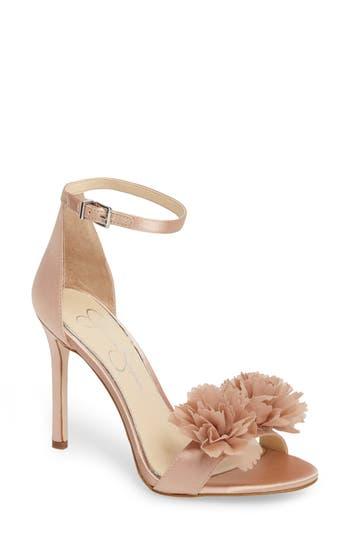 Jessica Simpson Jeena Embellished Ankle Strap Sandal, Pink