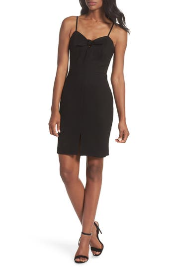 Adelyn Rae RAYNELLE TIE FRONT SHEATH DRESS
