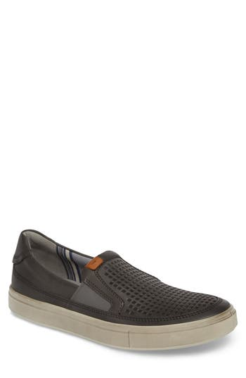 Ecco Kyle Perforated Slip-On Sneaker,9.5 - Grey