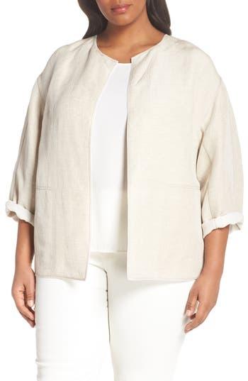 Plus Size Lafayette 148 New York Milo Jacket, Beige