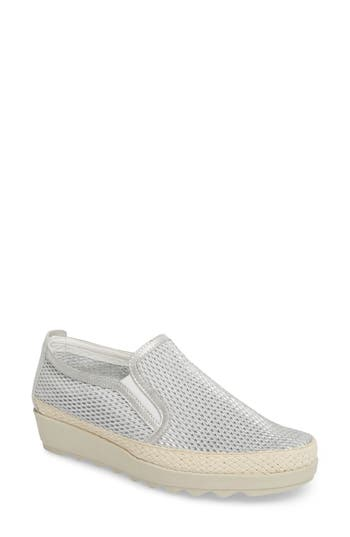The Flexx Call Me Perforated Slip-On Sneaker- Metallic