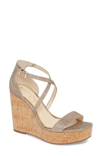 Jessica Simpson Stassi Cross Strap Wedge Sandal