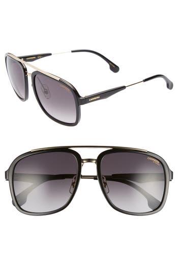 Carrera Eyewear 57Mm Navigator Sunglasses - Gold Black