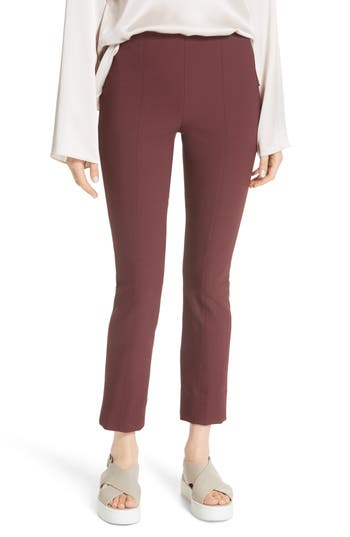 Vince Stitch Front Seam Leggings, Burgundy