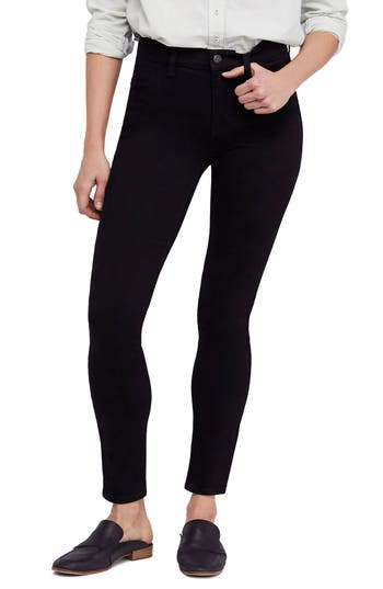We The Free By Free People Long & Lean High Waist Denim Leggings, 5 L - Black