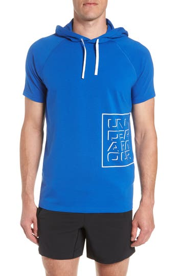Under Armour Unstoppable Short Sleeve Hoodie, Blue