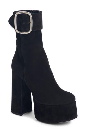 Saint Laurent Billy Platform Boot - Black